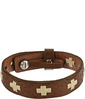 Fossil - Vintage Casual Cross-Stitched Leather Bracelet