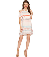 1.STATE - Halter Cold Shoulder Shift Dress