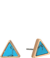 Fossil - Turquoise Triangle Studs