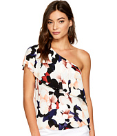 1.STATE - One Shoulder Ruffle Edge Blouse