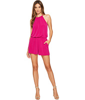1.STATE - High Neck Gathered Romper w/ Keyhole