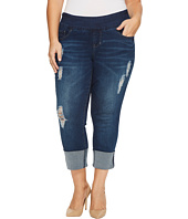 Jag Jeans Plus Size - Plus Size Lewis Pull-On Straight Cuffed Butter Denim in Cosmos