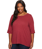 Jag Jeans Plus Size - Plus Size Wren Tee with Crochet Lace Back in Slub Jersey