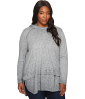Jag Jeans Plus Size - Plus Size Magna Hoodie in Burnout Jersey