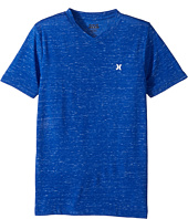 Hurley Kids - Cloud Slub Staple V-Neck Tee (Big Kids)