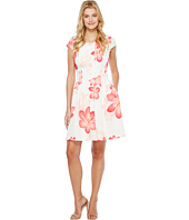 Calvin Klein - Cap Sleeve Floral Fit & Flare Dress CD7MEA6T