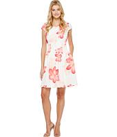 Calvin Klein - Cap Sleeve Floral Fit & Flare Dress CD7MEA6T