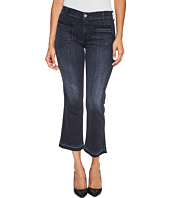 7 For All Mankind - Cropped Boot Jeans w/ Front Released Pockets & Released Hem in Authentic Black 2
