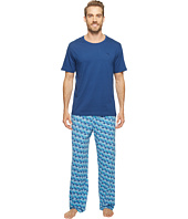 Tommy Bahama - Short Sleeve Jersey Two-Piece Pajama