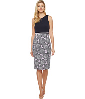 Maggy London - Twin Flower Scuba Sheath Dress