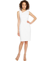 Calvin Klein - Asymmetric Neck Cotton Sheath Dress