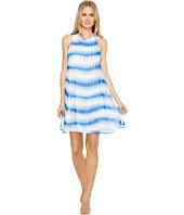 Calvin Klein - Stripe Print Trapeze Dress