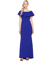 Adrianna Papell - Knit Crepe Flounce Bodice Gown