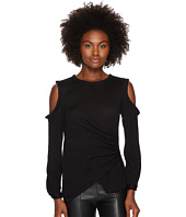 YIGAL AZROUËL - Star Knit Jacquard Cold Shoulder Top