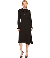 Zac Posen - Crepe Embroidery Long Sleeve Dress