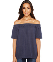 TWO by Vince Camuto - Off the Shoulder Mini Stripe Jersey Top