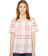 TWO by Vince Camuto - Off the Shoulder Timeless Plaid Blouse
