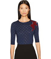 Sonia Rykiel - Perforated Woolsilk Knit Sweater