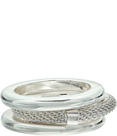 LAUREN Ralph Lauren - Set Of 3 Mesh and Smooth Metal Rings