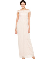 Adrianna Papell - Off Shoulder Sequin and Stretch Tulle Gown