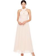 Adrianna Papell - Halter Chiffon Open Back Gown