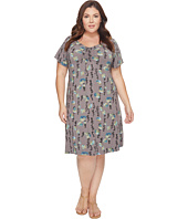 Extra Fresh by Fresh Produce - Plus Size Floral Vines Emma Dress