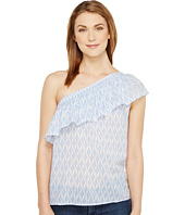 TWO by Vince Camuto - One Shoulder Ikat Stars Tencel Blouse