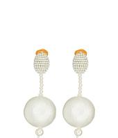 Oscar de la Renta - Pearl Drop Ball C Earrings