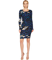 Versace Jeans - Geo Animal Long Sleeve Scoop Neck Dress