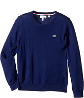 Lacoste Kids - Long Sleeve Crewneck Sweater (Toddler/Little Kids/Big Kids)