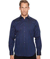 BUGATCHI - Long Sleeve Classic Fit Point Collar w/ Pocket