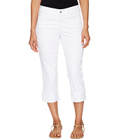 NYDJ Petite - Petite Dayla Wide Cuff Capris in Optic White