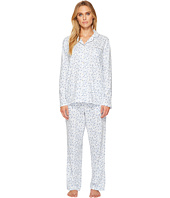 Eileen West - Cotton Jersey Notch Collar Long Pajamas