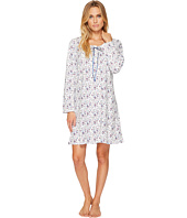 Eileen West - Cotton Jersey Short Long Sleeve Nightshirt