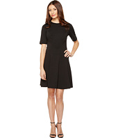 Christin Michaels - Ella Short Sleeve Ponte Dress