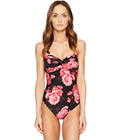 Kate Spade New York - Sugar Beach #63 Twist One-Piece Swimsuit w/ Soft Cups and Removable Halter Straps