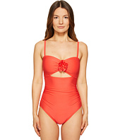Kate Spade New York - Pink Sands Beach #62 Peep Hole One-Piece Swimsuit w/ Removable Soft Cups