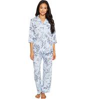 LAUREN Ralph Lauren - Petite 3/4 Sleeve Classic Notch Collar Pajama