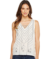 Lucky Brand - Embroidered Sweater Tank Top
