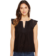 Lucky Brand - Embroidered Flutter Top