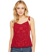 Lucky Brand - Washed Embriodered Top