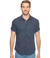 Calvin Klein Jeans - Ditzy Diamond Print Roll-Tab Button Down