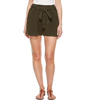 Lucky Brand - Tie Front Linen Shorts in Deep Depths