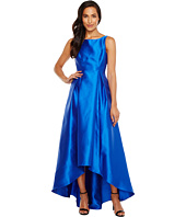 Adrianna Papell - High-Low Halter Mikado Gown