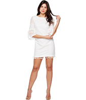 Vince Camuto - Eyelet Bell Sleeve Shift Dress