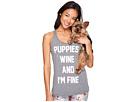 Puppies, Wine & I'm Fine - Racerback Tank Top
