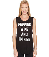 Puppies Make Me Happy - Puppies, Wine & I'm Fine - Sleeveless