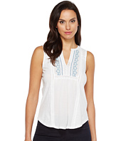 Lucky Brand - Embroidered Pintuck Tank Top
