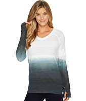 Cinch - Long Sleeve Dip-Dye Raglan V-Neck Top