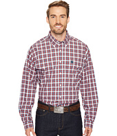 Cinch - Long Sleeve Plain Weave Plaid Double Pocket